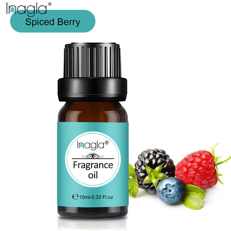 Inagla Spiced Berry Fragrance Essential Oils 10ml Pure Plant Fruit Oil For Aromatic Aromatherapy Diffusers Vanilla Cypress Oil