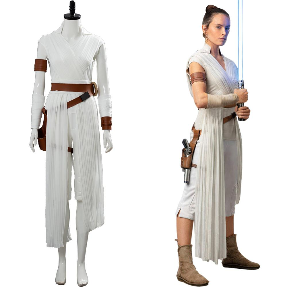 Star Cosplay Wars 9 The Rise Of Skywalker Rey Cosplay Costume Halloween Costumes Adult Jedi Rey Costume Outfit Clothes Movie Tv Costumes Aliexpress