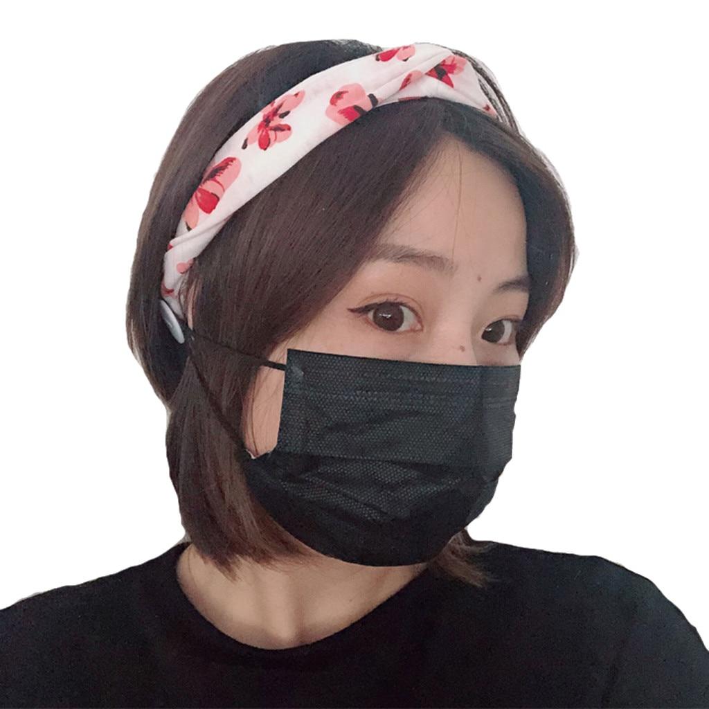 The New Mask Partner Customized Anti-leak Mask Hair Band Bow Elastic Band Hair Band Side Button Hair Hoop Headband Mask Decor