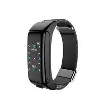 B6 Smart Uhr Wasserdicht Kalorien Herz Rate Tracker Geschenk Elektronische Sport Farbe Bildschirm Bluetooth Anruf Blutdruck 2 In 1