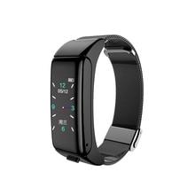 B6 חכם שעון עמיד למים קלוריות קצב לב Tracker מתנה אלקטרוני ספורט צבע מסך Bluetooth שיחת לחץ דם 2 ב 1