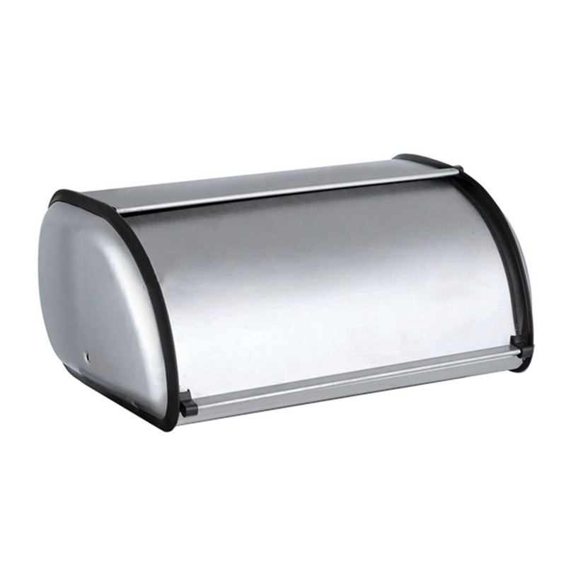 Stainless Steel Durable Simple Bread Case Breadbox Storage Box For Hotel Store Home Mirror Material Bread Storage Box 1Pcs
