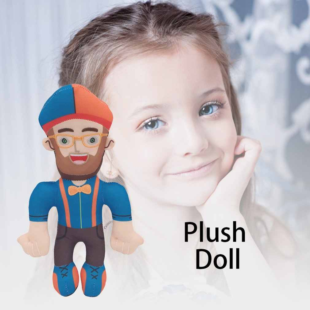 11/'/'//28cm TV Blippi Plush Doll Soft Stuffed Figure Toy Character Kids Boy Gift