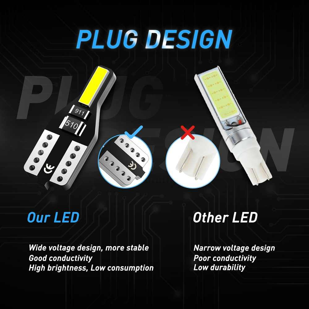 10 Pcs T10 W5W LED 2825 LED Mobil Interior Lampu Lampu Baca untuk Hyundai Tucson Bisa Azera Elantra Santa Sonata kejadian Veracruz (Negara Bagian)