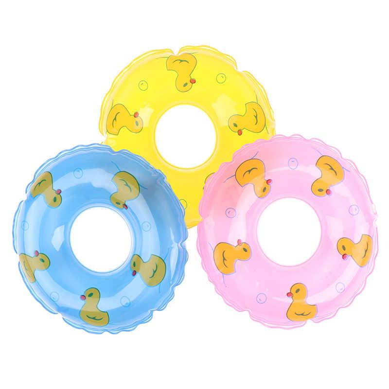 1 pieza DIY casa de muñecas juguete bebé regalo verano playa baño muñeca natación cinturón salvavidas anillo para accesorios de muñeca Color al azar
