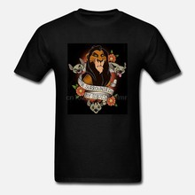 Lion King Litteken Omgeven Door Idioten Tattoo T-shirts Katoen M-3XL Ons Heren Trend(China)