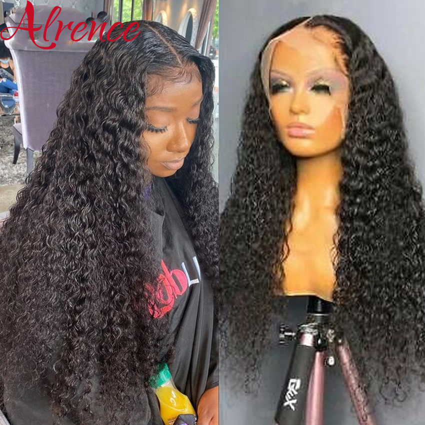 Hd transparente encaracolado 28 Polegada 13x4 perucas da parte dianteira do laço para as mulheres brasileiro cor natural remy cabelo humano glueless fechamento do laço perucas