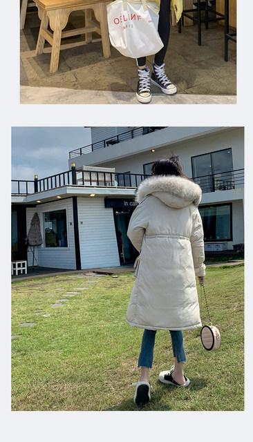 -30 Degrees Winter Women Long Parkas Jackets Plus Size M-5XL Thick Warm Big Fur Collar Female Slim Sintepon Parkas Outwear Coat 24