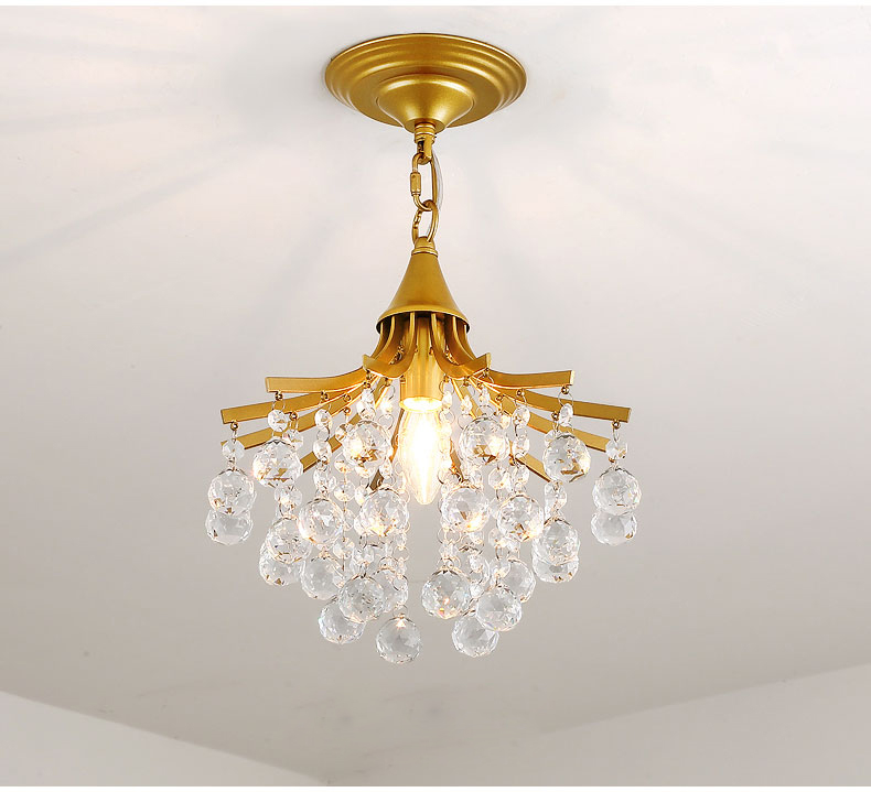 Modern Crystal Chandelier Indoor Lighting For Bedroom Ceiling Chandeliers Gold Black lustres de cristal Avize Light Fixtures