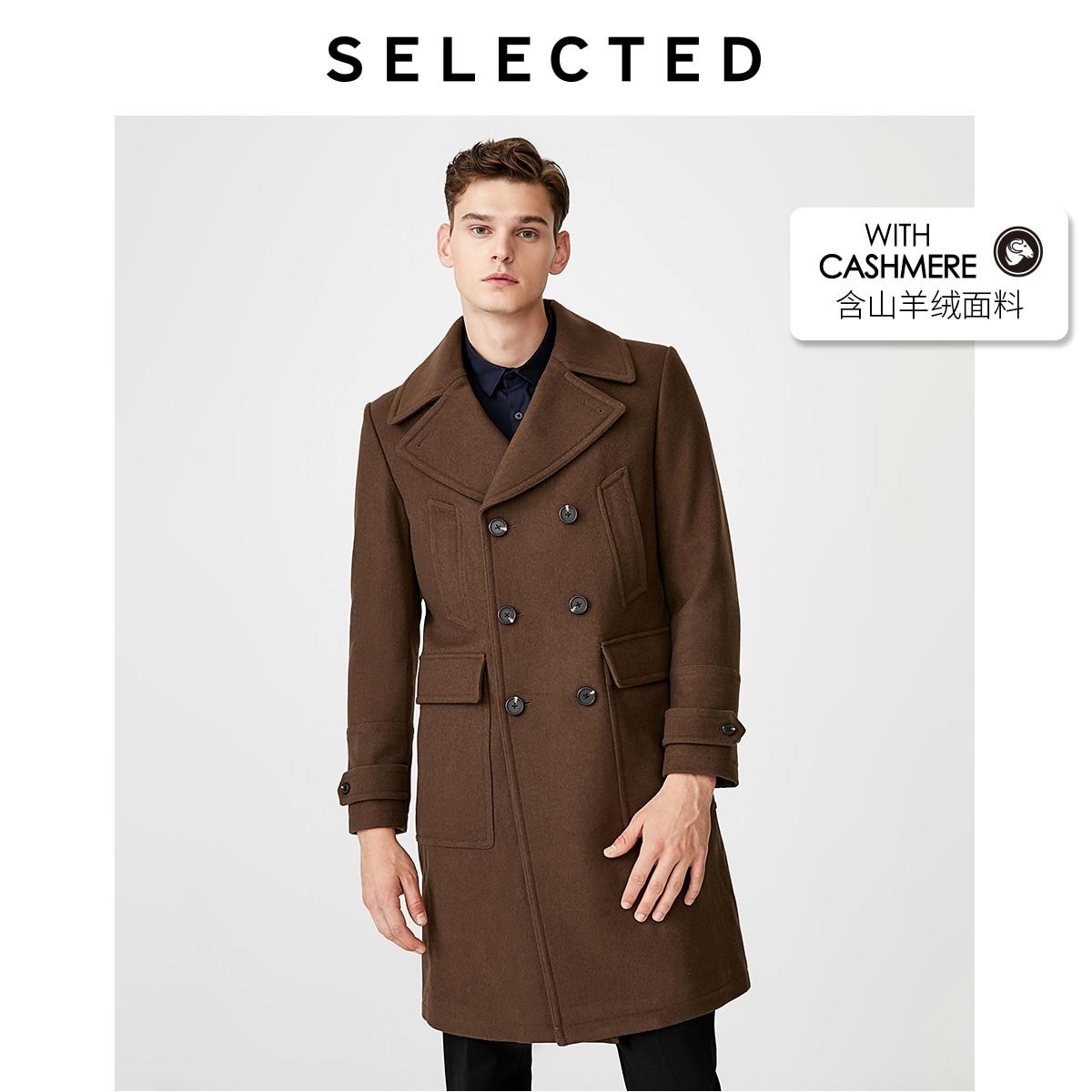 SELECTED Men's Woolen Overcoat Autumn & Winter Wool Coat Outwear S 419427547
