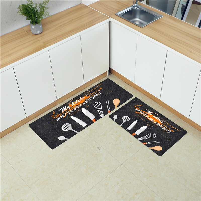 US $14.29 35% OFF|Long Kitchen Mat Carpet PVC Soft Leather Floor Mats Large  Floor Carpets Doormat Bedroom Waterproof Oilproof Kitchen Rugs-in Mat from  ...
