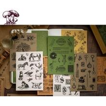 15pcs/lot New Retro Series Material Paper Stickers Decorative Scrapbooking Craft Sticker Diary Album Adhesive