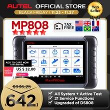 Autel MaxiPro MP808เครื่องมือPK DS808 DS708 Maxisys MS906เครื่องสแกนเนอร์รีเซ็ตบริการKey Coding OBD OBD2 Scanner
