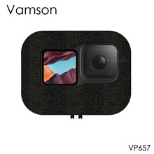 Vamson for GoPro Hero 9 Black Windshield Wind Foam Cover Wind Noise Reduction Windproof Case for Go Pro 9 Accessories VP657