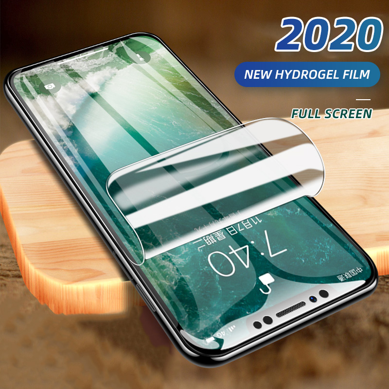 2020 New Hydrogel Film For iPhone 5 5S SE 7 8 Plus 6 6s Plus Screen Protector iPhone X XS XR XS Max 11 Pro Max Soft Protective(China)
