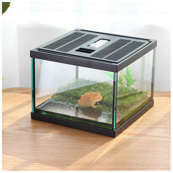 Ge Gecko Habitat Tortoise Aquarium Snail Container Fish Bowl Hermit Crab House Spider Container Tarantula Box Insect