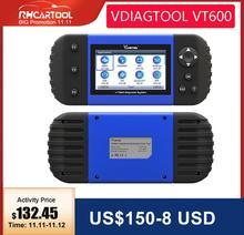 VDIAGTOOL Auto Diagnostico VT600 OBD2 Scanner Strumento di lavoro Brasile Motore auto ABS SRS EPB di Codifica OBD2 PK NT650 x100 pro crp129E