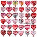 10 шт./лот 18-дюймовые воздушные шары в форме сердца для свадьбы, Дня Святого Валентина, алюминиевая фольга, гелиевые глобусы, свадебные украше...