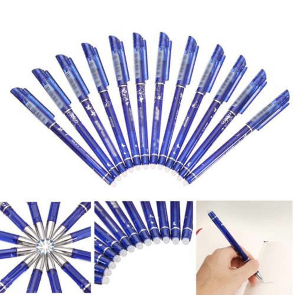 12X 0.5mm Gel Ink Pen Friction Erasable School Stationery Student Supplies New