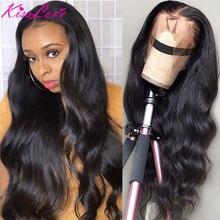 Onda do corpo frente do laço perucas de cabelo humano para as mulheres pré arrancadas com o cabelo do bebê cabelo remy brasileiro 13x4 13x6 peruca dianteira do laço kisslove