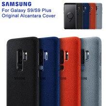 SAMSUNG orijinal anti vurmak resmi telefon kılıfı için Samsung Galaxy S9 G9600 S9 + S9 artı S9Plus G9650 Alcantara telefon kılıfı