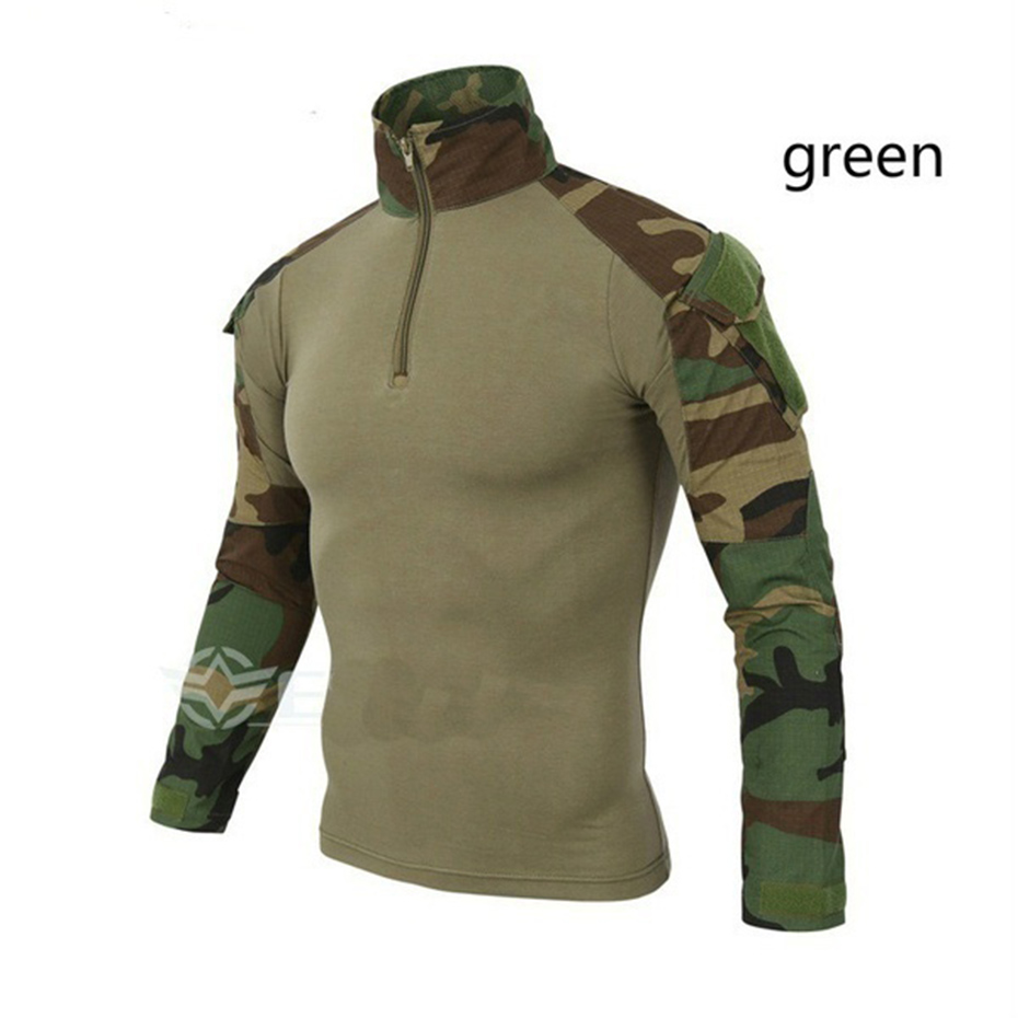 Long Sleeve T Shirt Men Quick Dry Army Camouflage T Shirt Men Soldiers Combat Tactical T Shirt Military Force Multicam Camo Plus in T Shirts from Men 39 s Clothing