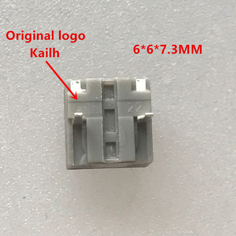 10-100Pcs Kailh 6*6*7.3mm square silent mouse micro switch mouse button can replace a rectangle micro switch 8 millions lifetime
