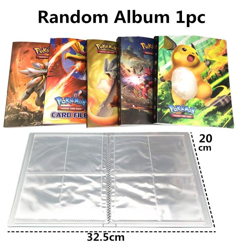 Высокое качество 10-300 шт Pokemones карты Tag Team GX EX Мега карты Pokemones английские карты PIKACHU игрушки для детей подарок - Цвет: album 1piece