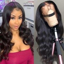 Admutty ludzkich włosów peruka ciało koronkowa fala peruka Front dla kobiet wstępnie oskubane z dzieckiem włosy malezyjski koronki peruka w kolorze naturalnym