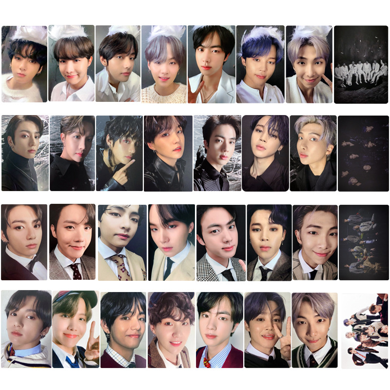 4pcs Kpop Bangtan Boys Map Soul Of 7 New Album Stray Kids Homemade 5.4cm * 8.6cm Card Kpop Photocards