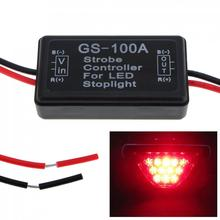 цены 1pcs Durable Waterproof GS-100A   12 V LED Brake Stop Light Lamp Flash Strobe Controller Flasher Module Suitable  for Vehicle
