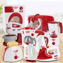 Aparelhos domésticos fingir jogar cozinha crianças brinquedos máquina de café torradeira liquidificador aspirador de pó fogão brinquedos para o miúdo