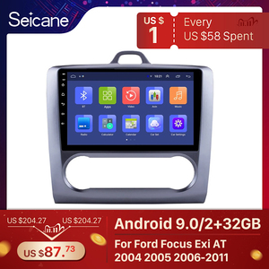 Image 1 - Seicane 2 DIN 9 Inch Android 9.0 GPS Navigation Touchscreen Quad core Car Radio For 2004 2005 2006 2011 Ford Focus Exi AT