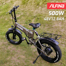 ALFINA FX-21 New electric bicycle snow mountain electric bike 20inch 4.0 fat tire ebike beach bicicleta eletrica 500W 40KM