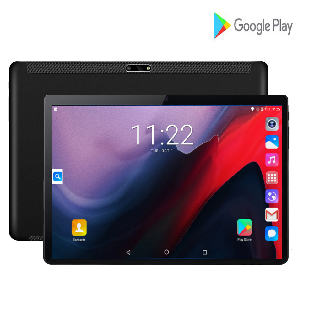 Newest 10 Inch Tablet PC Android 7.0 Quad Core Tablets Ram 2GB Rom 32GB Tablet IPS T10 Dual SIM GPS Tablet Android Tab 10.1