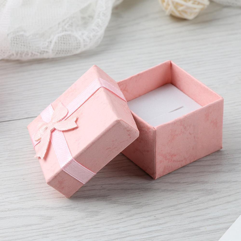 4x4x3cm High Quality Jewery Organizer Box Rings Storage Box Small Gift Box For Rings Earrings Creative Earring Box