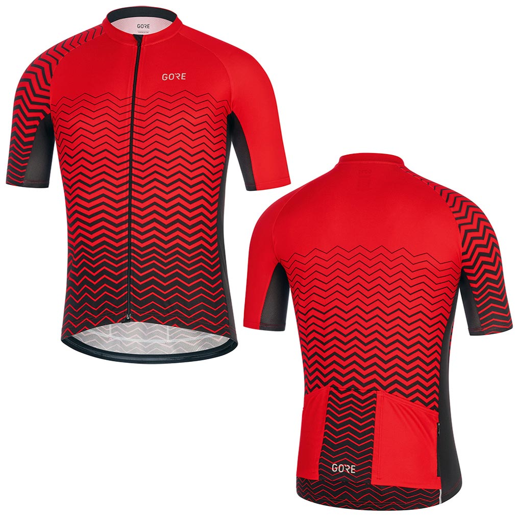 2019 Men Red GORE Pro Bicycle Wear Short Sleeve Racing Cycling Jersey Clothing  Quick Dry Maillot Culotte Wear Jersey