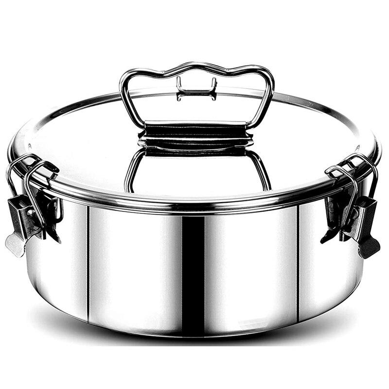 Paslanmaz çelik flanş kalıp kapak ve kolay kaldırma kolu, aksesuarları için 6, 8 Qt pişirme, 2-Qt kek tava
