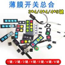 Painel Do Interruptor de Membrana PÇS/LOTE 2 Botões de Modificação Do Carro DIY Chifre Luzes 1-4 Chaves de Extensão