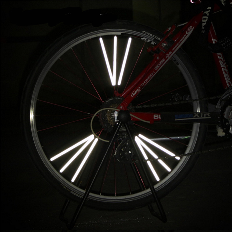 Outdoor Bicycle Reflective Stickers Fluorescent Motorcycle Tire Paper Bicycle Reflective Decals
