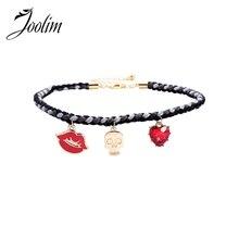 JOOLIM Jewelry Wholesale/ Cute Skull Lips Choker Necklace