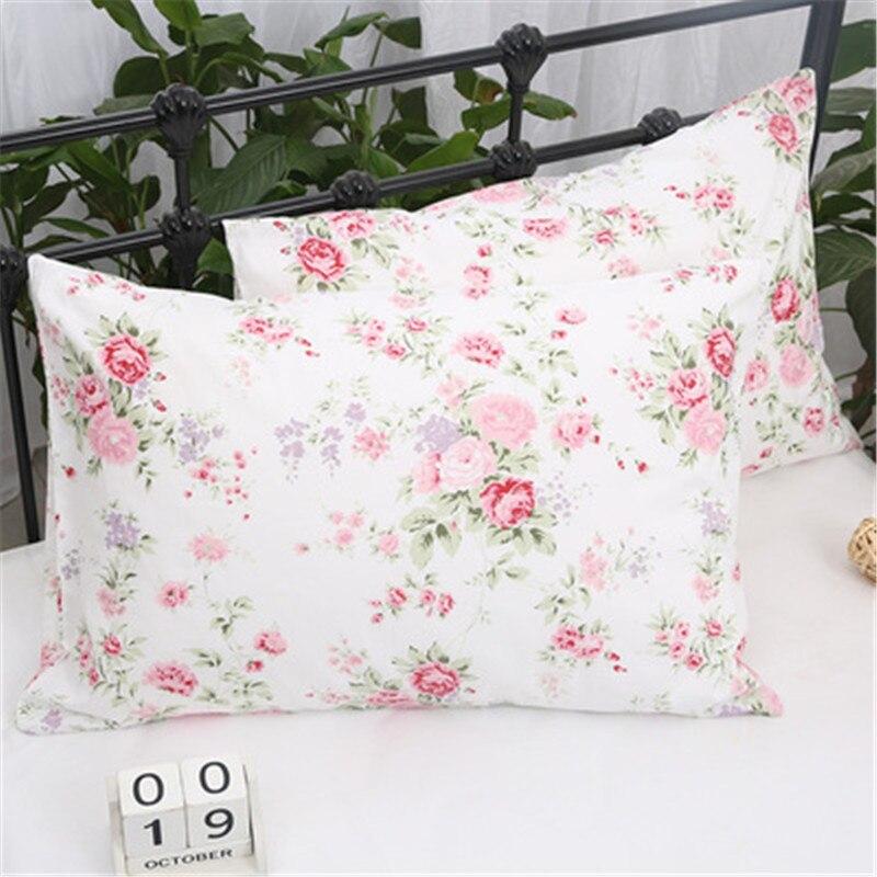 100 Cotton Printing Floral Pillowcase No Zipper Envelope Pillow Sham 2pcs наволочка Free Shipping Yyx Pillow Case Aliexpress