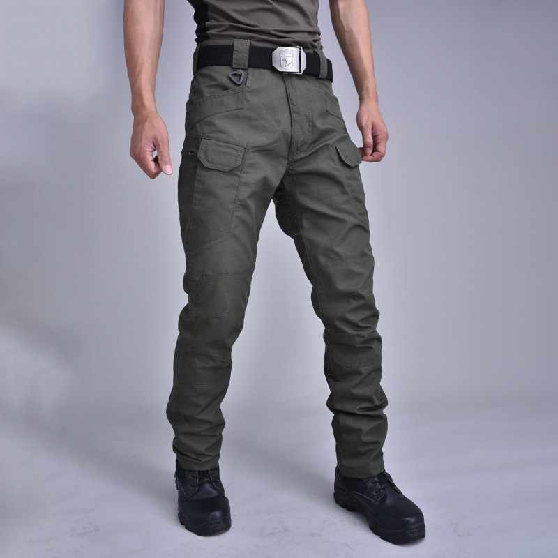 Тактические Брюки камуфляжные брюки хлопковые комбинезоны Осенние уличные брюки с несколькими карманами износостойкие FL101