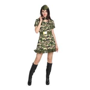 Image 3 - Ładna kobieta żołnierz armia wojownik kostium dla kobiet panieńskie nastoletnie dziewczyny Fantasia Halloween Purim sukienka na karnawał