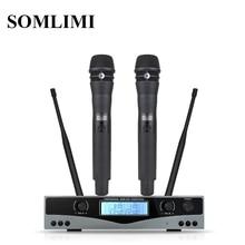 Nieuw! Hoge Kwaliteit UHF KSM8 Professionele Dual Draadloze Microfoon Systeem toneelvoorstellingen een twee draadloze microfoon