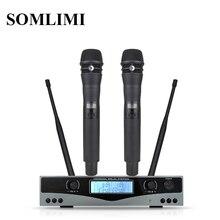 ใหม่!คุณภาพสูง UHF KSM8 Professional ไมโครโฟนไร้สายระบบเวทีการแสดง 2 ไมโครโฟนไร้สาย