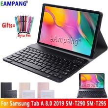 Funda para Samsung Galaxy Tab A 8,0 2019, Funda para teclado T290 T295 SM T290, Funda fina de cuero con Bluetooth y Keybaord, SM T295