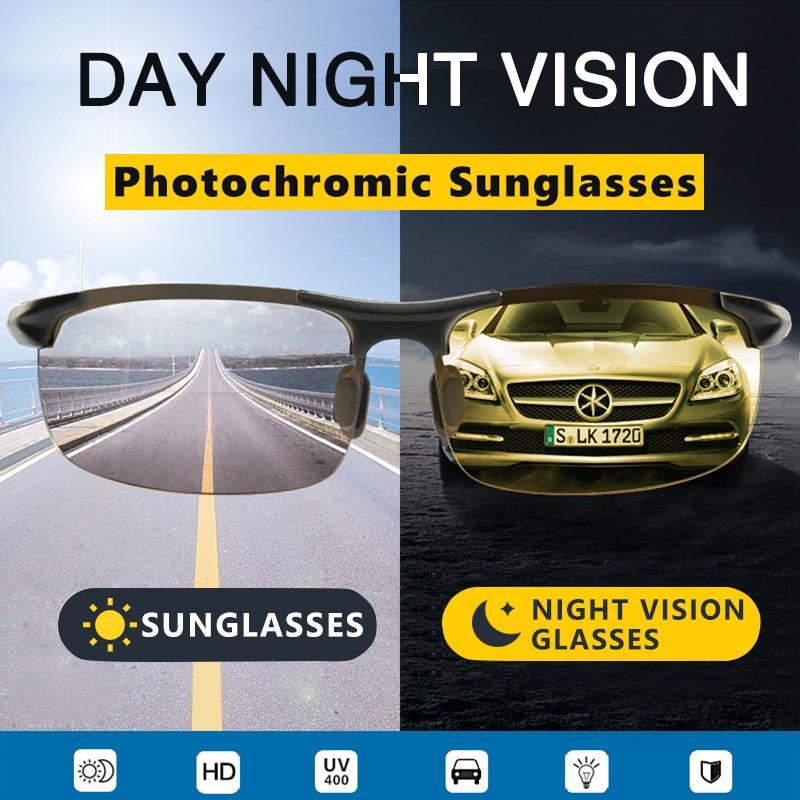Image 2 - Aluminum Magnesium Photochromic Sunglasses mens Polarized Day Night Vision Men Oculos Driver Yellow male Driving Glasses gafasMens Sunglasses   -