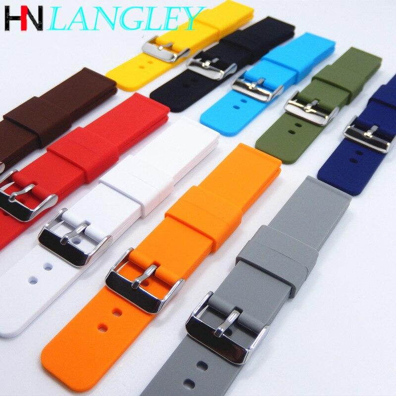 Pulseira de relógio de liberação rápida para huawei relógio inteligente pulseira de borracha de silicone para samsung active watch 14  16  18  20  22  24mm pulseira de pulso