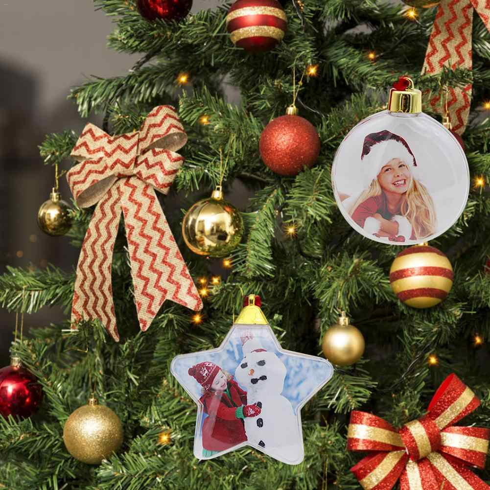 ต้นคริสต์มาส DIY ปาร์ตี้คริสต์มาสห้าดาวรอบวันวาเลนไทน์ Props กรอบรูปจี้เครื่องประดับแขวนกรอบ